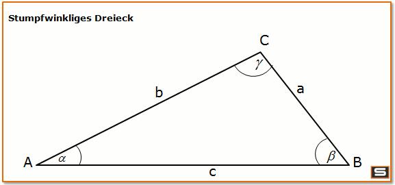 stumpfwinkliges dreieck geometrie dreieck dreieck berechnen und spitzwinkliges dreieck. Black Bedroom Furniture Sets. Home Design Ideas