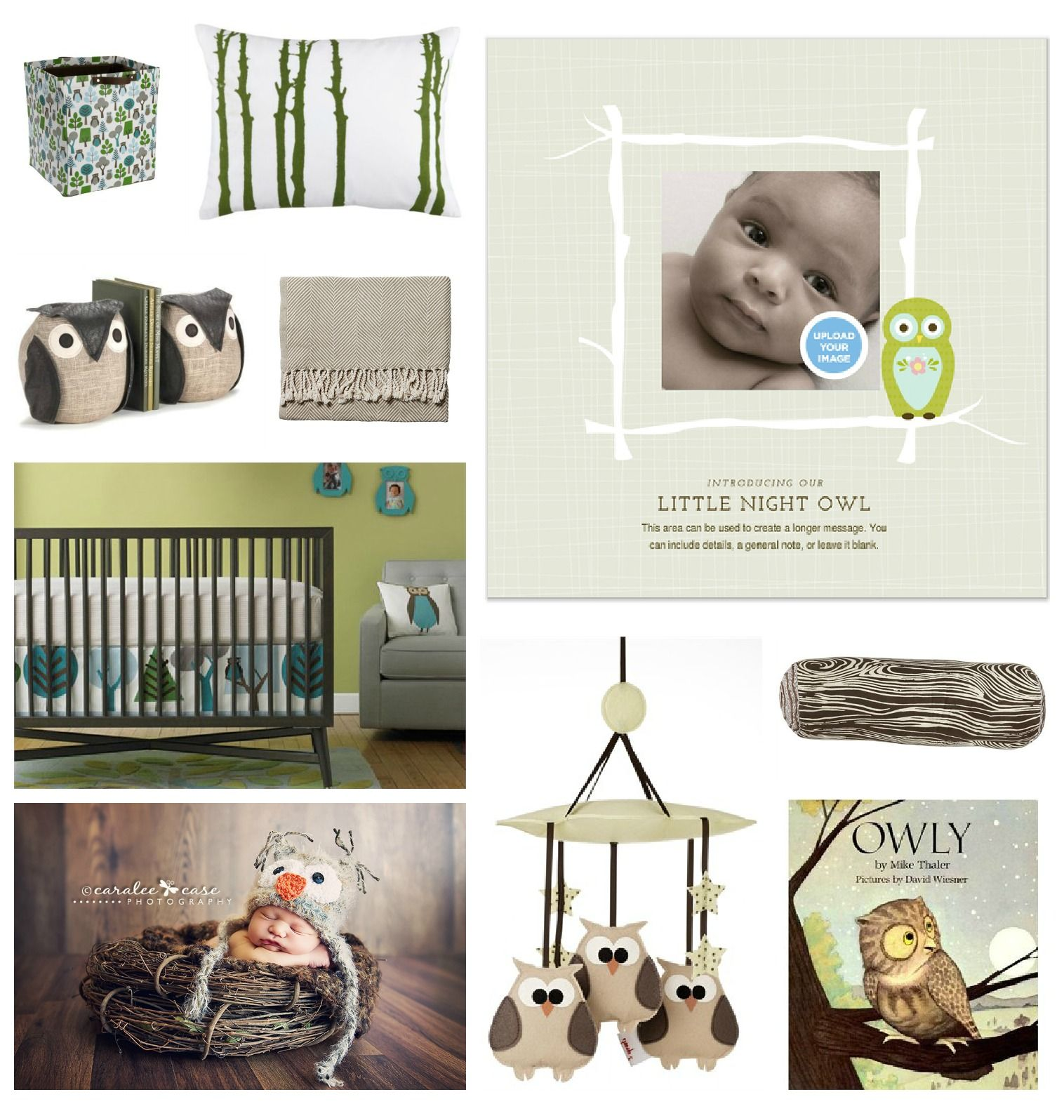 Little Night Owl -Pingg Birth Announcements