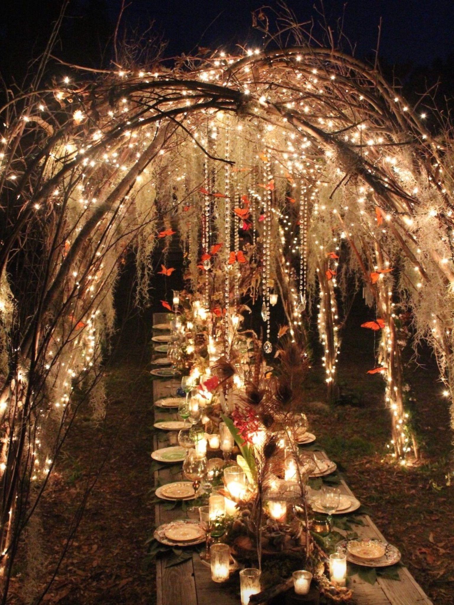 Engagement Dinner Nacht Hochzeit Hochzeitsdekoration Hochzeit Beleuchtung