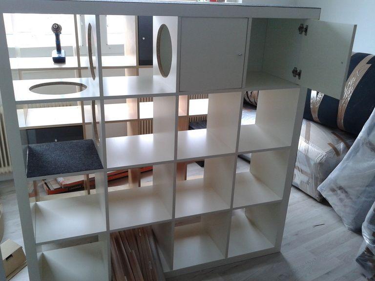 expedit bzw kallax regal cat pinterest cat cat furniture and kitty. Black Bedroom Furniture Sets. Home Design Ideas
