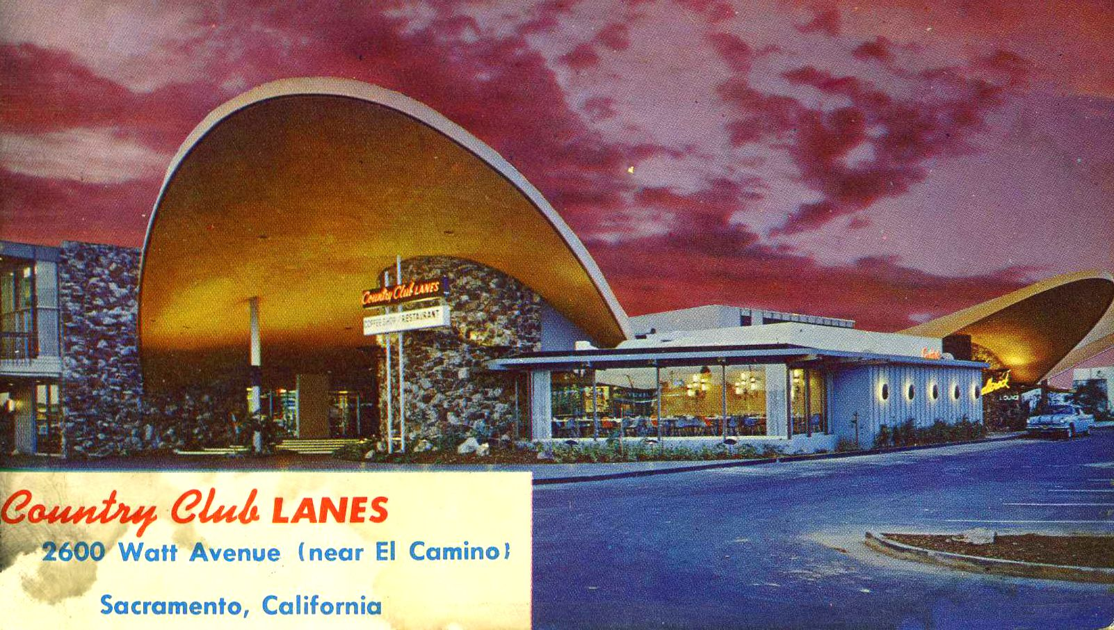 ...Country Club Lanes is shown in this c. 1960 postcard