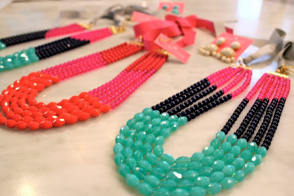 Libby Colorblock Necklaces - We love them for mother's day gifts!