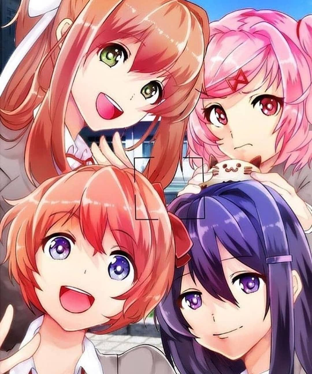 Sayori Loves Taking Pictures On Trips Artist Credit Tags To Ignore Yuri Ddlc Ddlcyuri Crazy Psychotic Literature Club Literature Anime