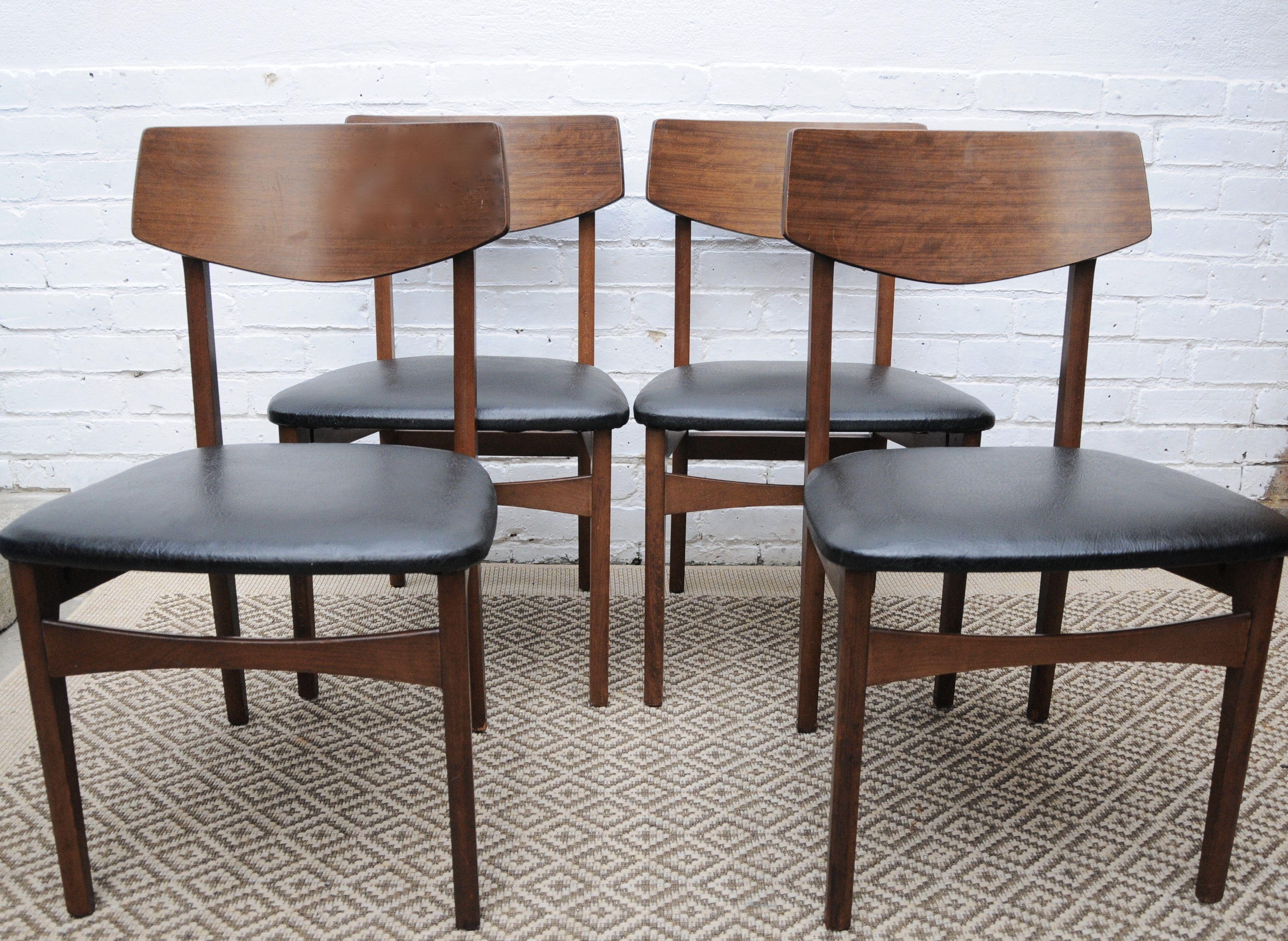 Fantastic Retro Dining Chairs Black Vinyl Seat Dbd Dining Chairs Creativecarmelina Interior Chair Design Creativecarmelinacom