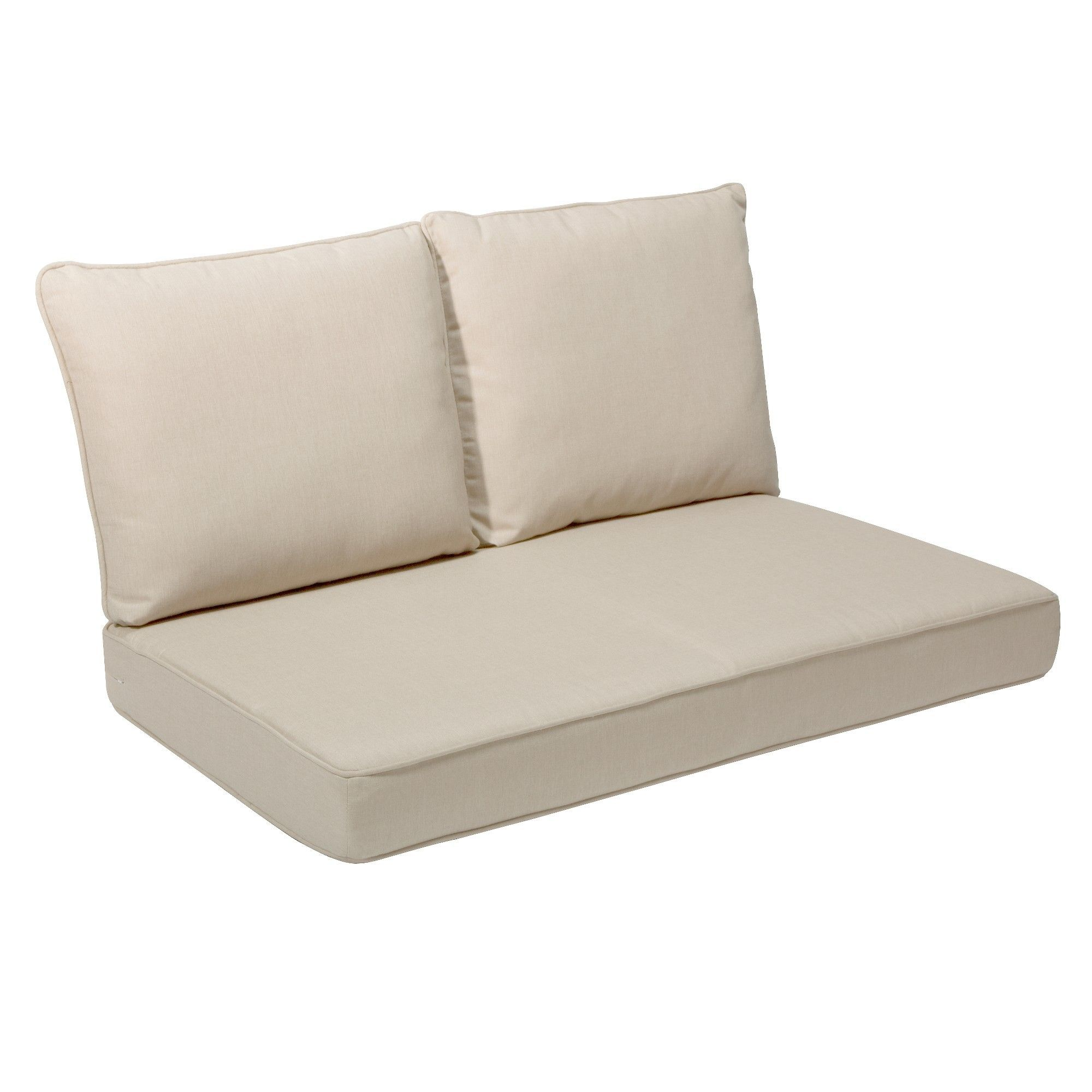 Rolston 3pc Outdoor Replacement Loveaseat Cushion Set Beige