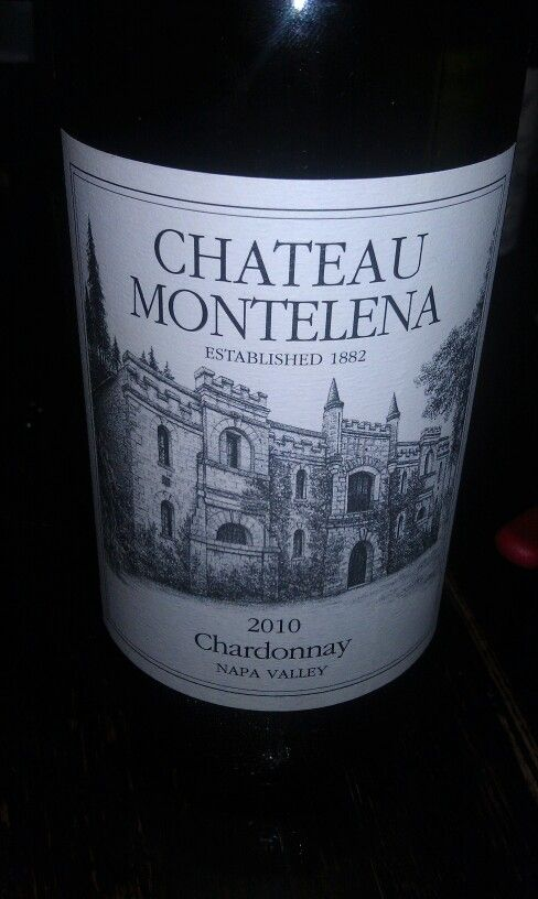 Chateau Montelena Chardonnay 2010 Napa Its everything one wants in a chardonnay. Fantastic at about room temp. or just a little cooler.