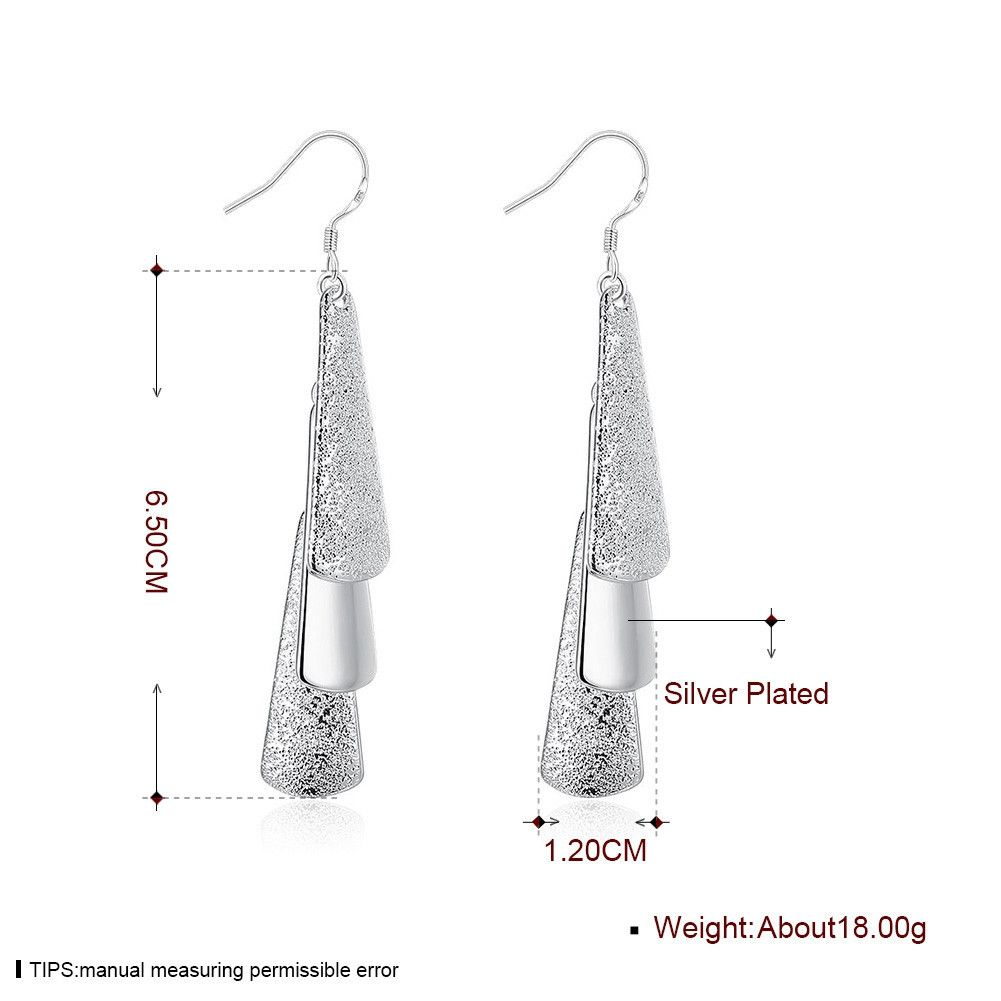 Three Slice Silver Earring