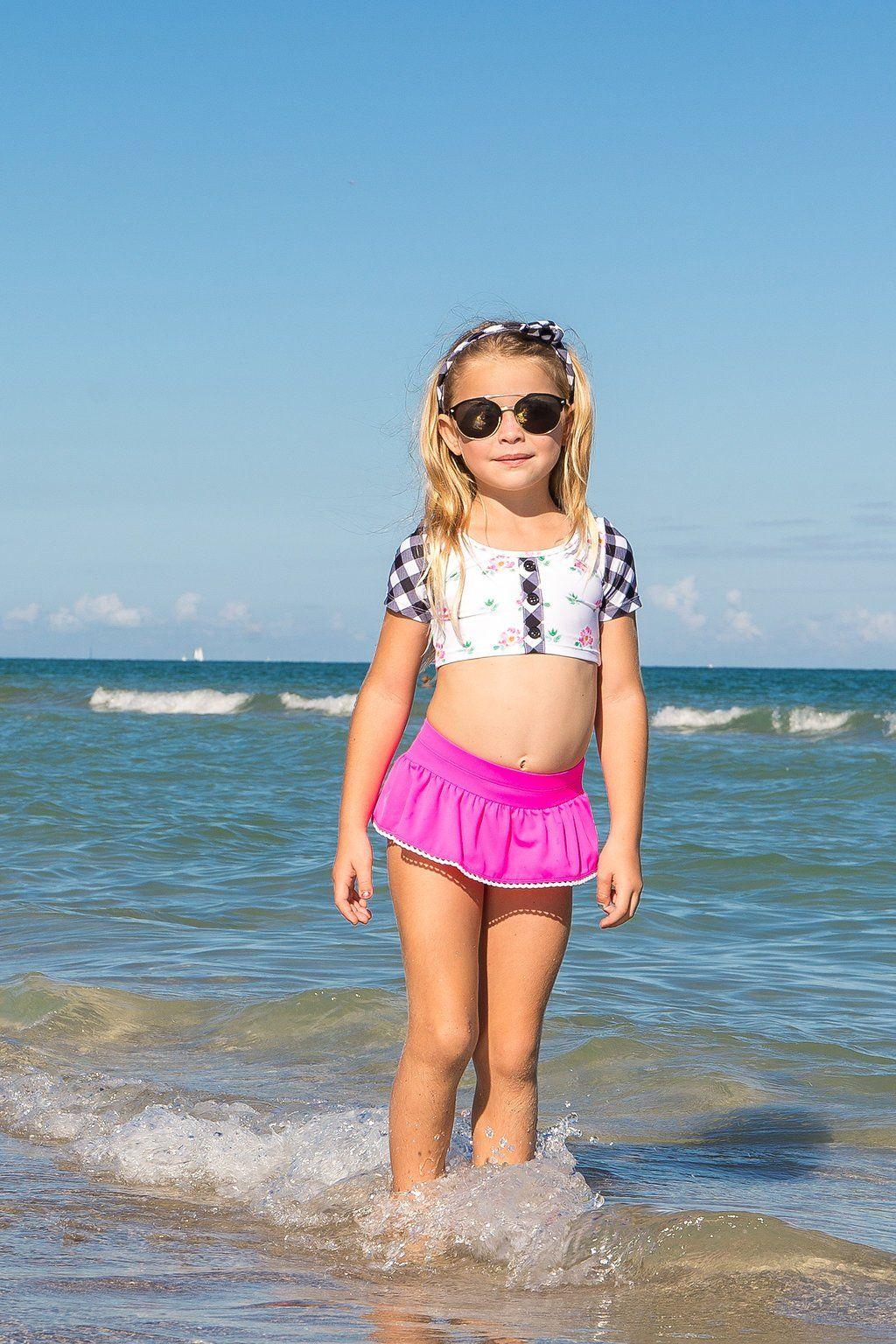 Swimwear Adaptable Baby Girls Flower Skirt Type Two Pieces Bikini 9-30 Months Baby Infant Summer Swimwear Swimming Accessories Childrens Swimwear
