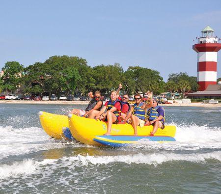 32 Get A Thrill On A Banana Boat Banana Boats Banana Boat Boat