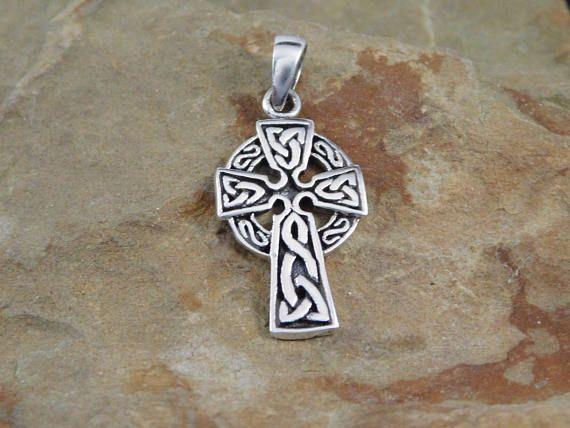 Silver celtic sun cross pendant with chain irish jewelry celtic sterling silver celtic sun cross pendant with chain irish jewelry celtic cross necklace aloadofball Choice Image