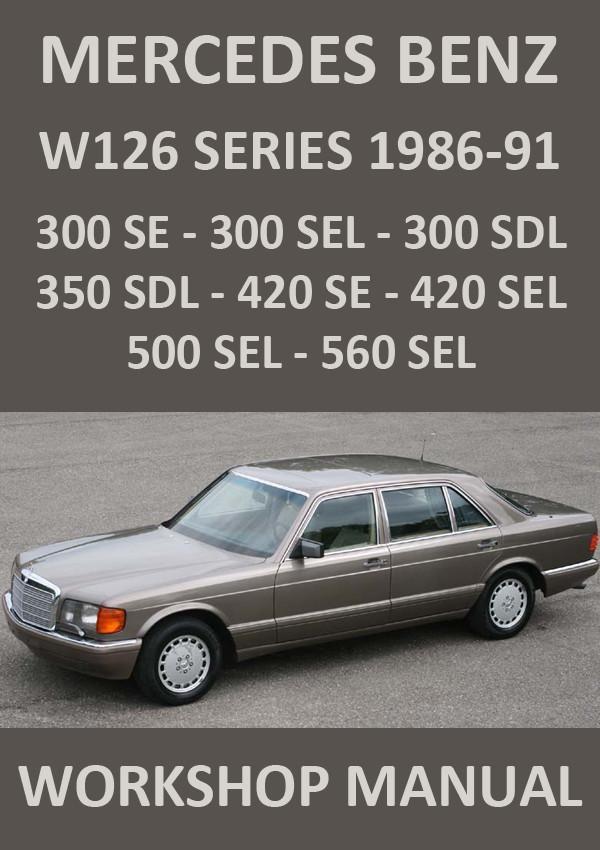 mercedes benz w126 series s class 300 420 500 560 workshop rh pinterest com Manual Black Mercedes -Benz Mercedes-Benz Manual Trans