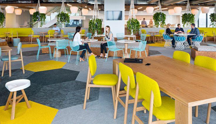 The Elished Interior Design Practice Geyer Has Designed New Open Office E For Arrow Energy In Brisbane Australia 1600 Of Bolon Botanic