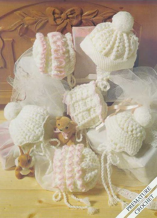 premature baby harts crochet vintage pattern by EnglishCrochet ...