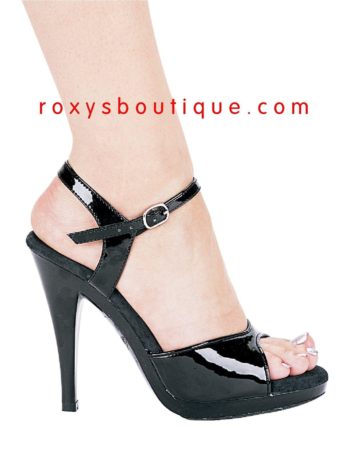 Black sandals 2 inch heel - Black Patent Sandals With 4 1 2 Inch Heels Brand Ellie Shoes Medium B