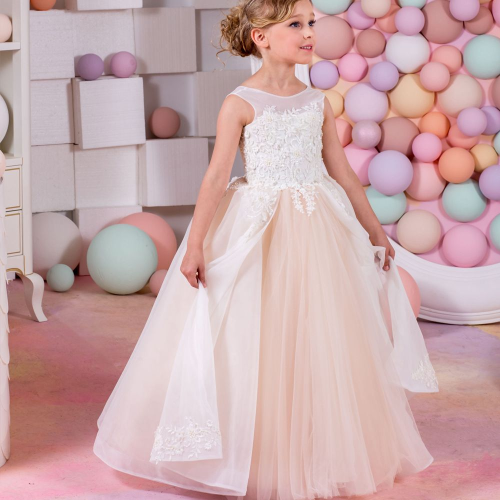 Click to buy ucuc child party dress tulle girl dresses anklelength