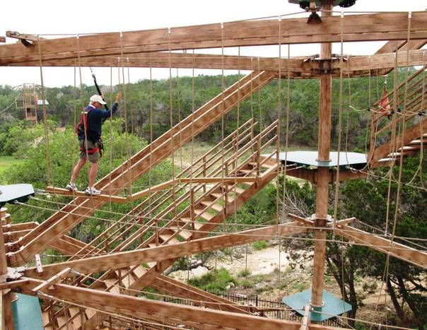 Test your skills on the Canopy Challenge at Natural Bridge Caverns near New Braunfels Texas & Test your skills on the Canopy Challenge at Natural Bridge Caverns ...