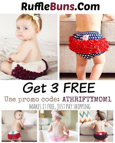 Free Rufflebuns With Promo Code Baby Clothes Shower Gift Ideas Or Birthday Freebies For Babies