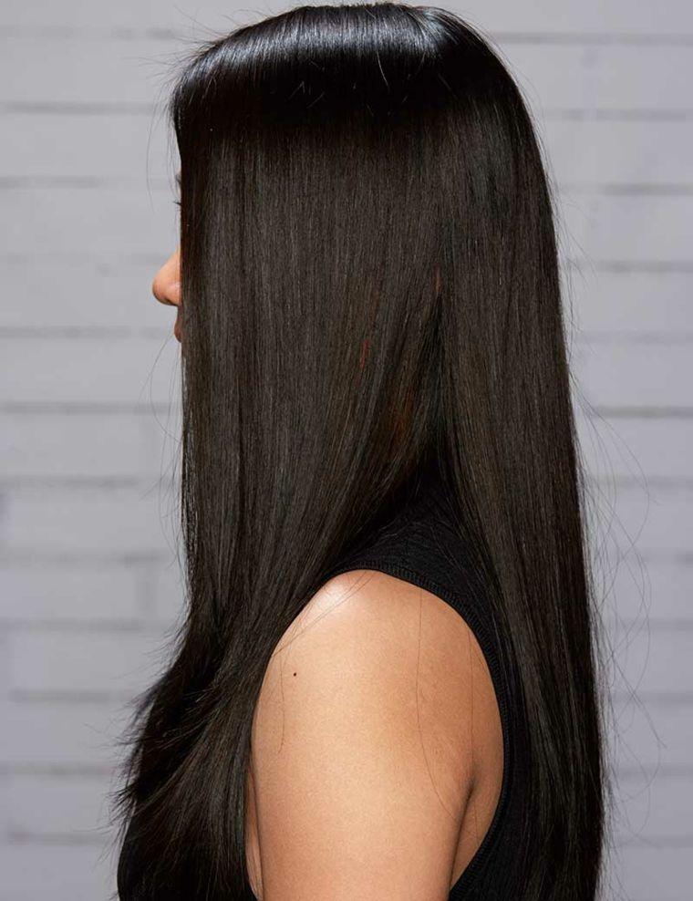 Scalatura capelli lunghi foto