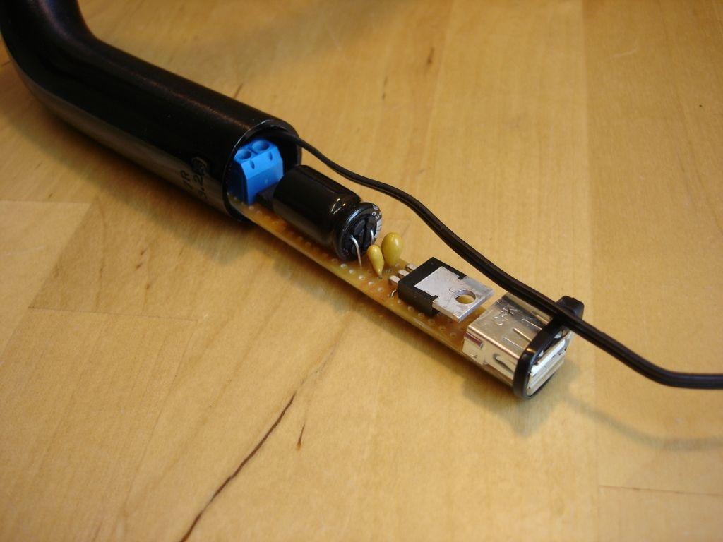 Diy hub dynamo usb charger inside handlebar linux and