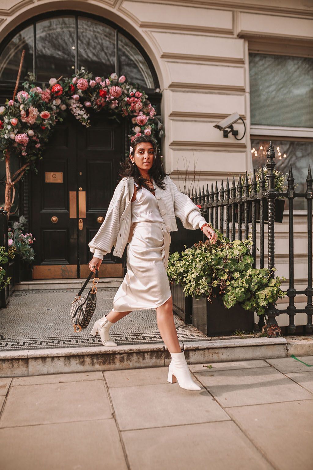 67848fab8 Luxury fashion blogger Shloka Narang of The Silk Sneaker shares how to  create the perfect spring outfit to transition your wardrobe this March  featuring a ...