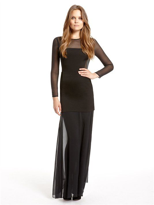 chic in sheer and black #wheretowear
