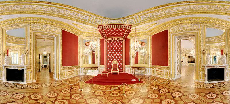 Throne Room in the Royal Castle in Warszawa (Warsaw), Poland.