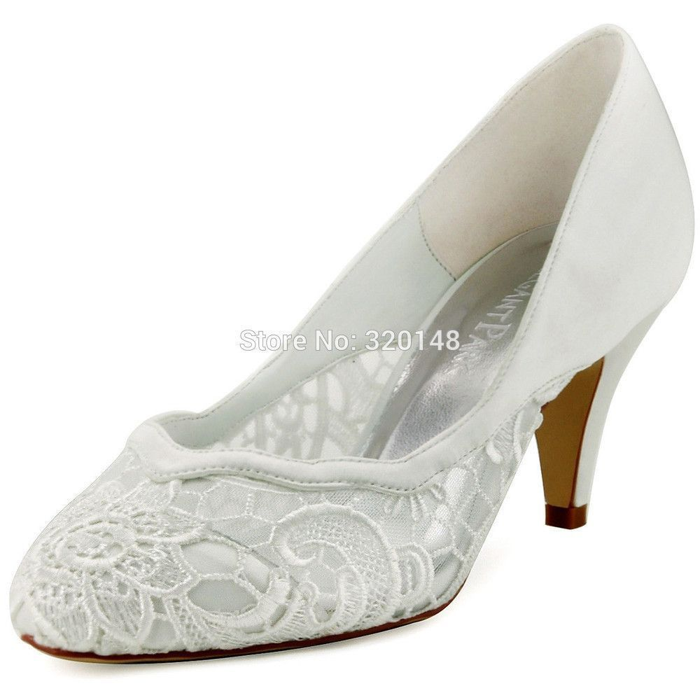 Low heel dress shoes for wedding  Women Ivory Size  Closed Toe Low Heel Wave Cutting Pumps  Fashion