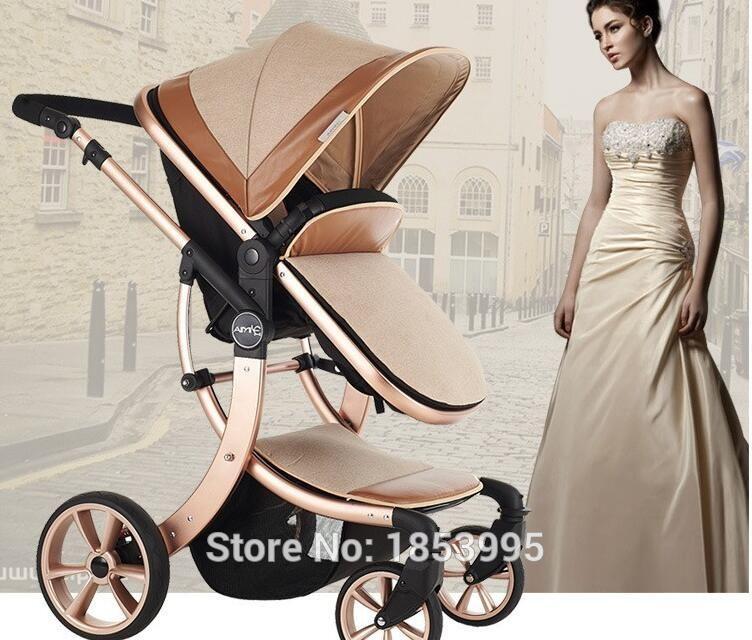 2016 New design Luxury baby stroller 3 in 1 , 4 colour