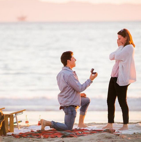 Diy Seeded Eucalyptus Wreath Beach Proposal Proposals And Engagement