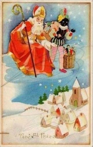 Carte de saint nicolas avec pere fouettard the world of postcards pinterest p re fouettard - Carte de st nicolas a imprimer ...