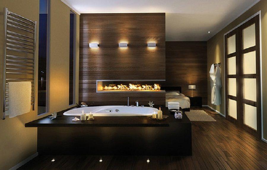 Bathroom Romantic Master Bathroom Decor Idea With Candlelit And