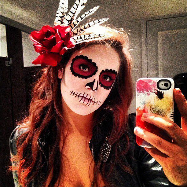 awesome Day of the Dead Halloween Makeup Tutorial - Sugar Head ...