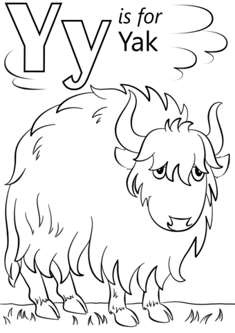 Letter Y Is For Yak Coloring Page From Letter Y Category Select From 26388 Printable Crafts O Abc Coloring Pages Kindergarten Coloring Pages Preschool Letters