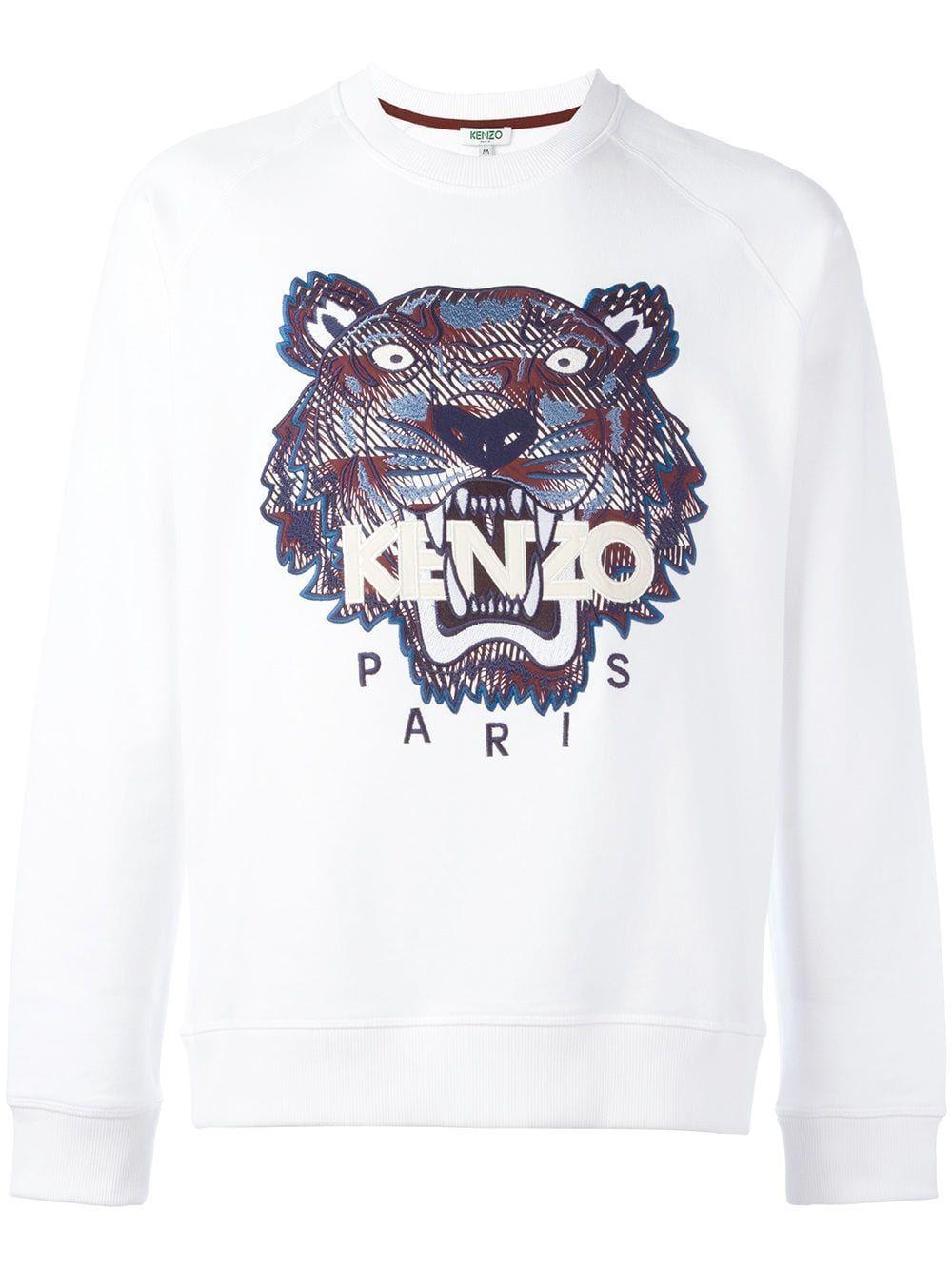 c553c49e KENZO KENZO 'TIGER' SWEATSHIRT - WHITE. #kenzo #cloth | Kenzo ...