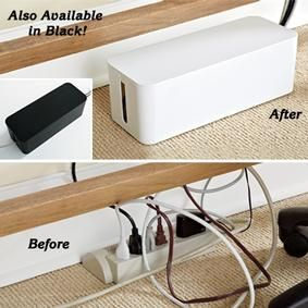 Another Take On The Cable Tidy Box This One Fits Over Surge Protector No Need To Unplug For Set Up Extra Length Right Inside Keep A
