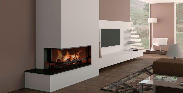 Chimeneas modernas magma white house interior - Estufas de lena modernas ...