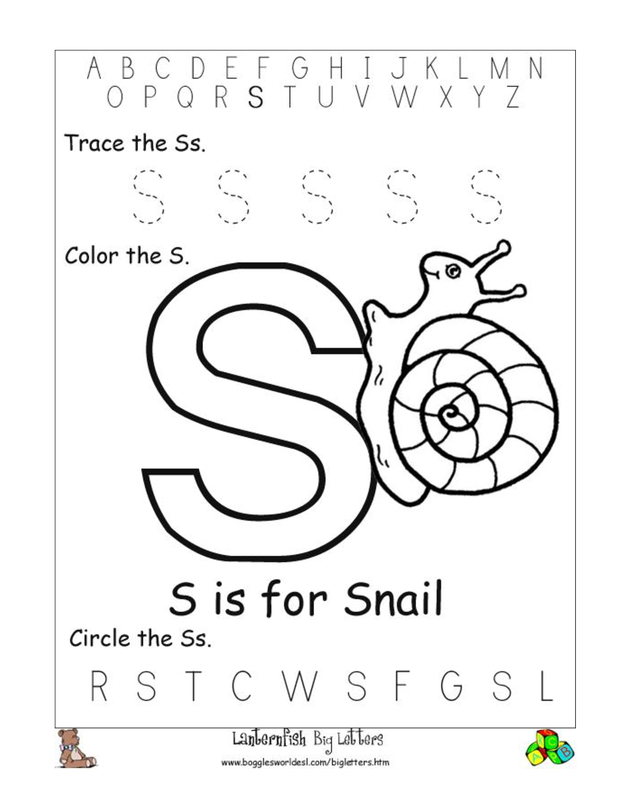 printable letter s worksheets stuff to buy pinterest printable letters worksheets and. Black Bedroom Furniture Sets. Home Design Ideas