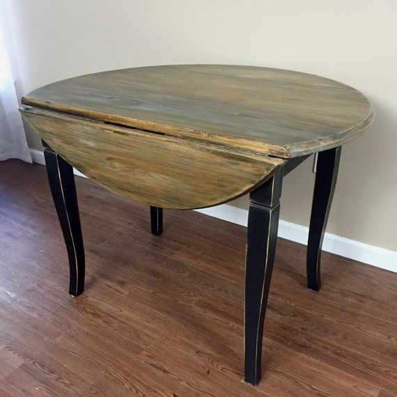 Sold Rustic Round Drop Leaf Kitchen Table Dining Table Kitchen