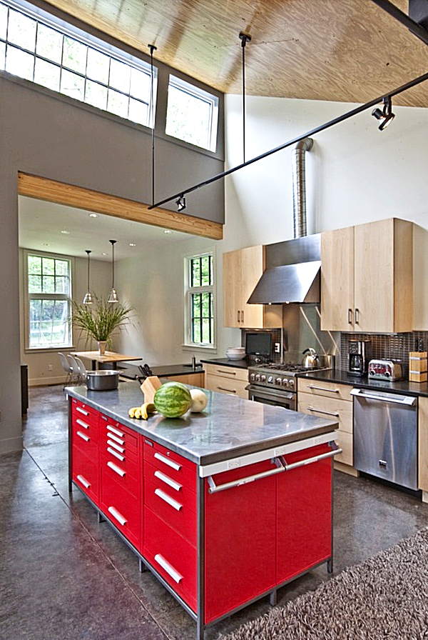 Love That They Used A Tool Chest For The Island Kitchen Design
