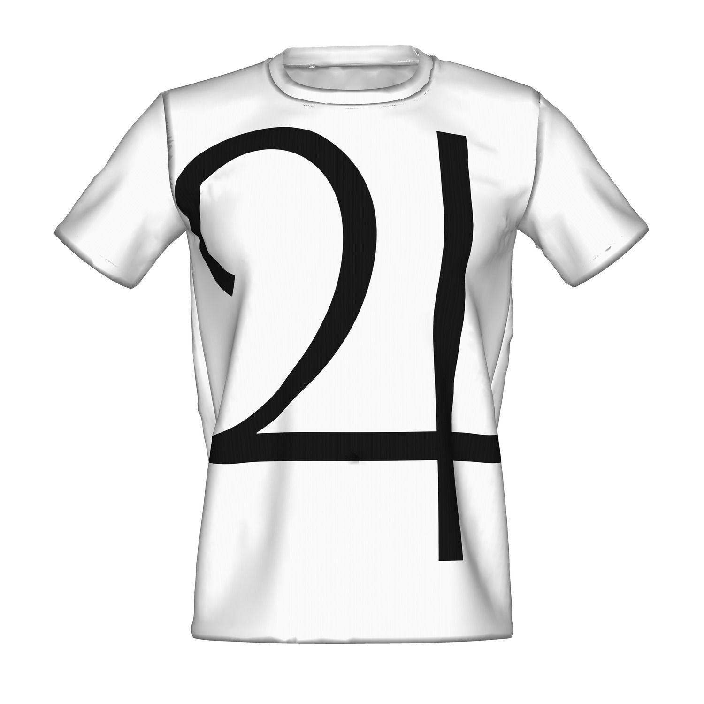 ホワイトベースにブラックのロゴのTシャツ/Jupiter T WHITE - designed by 9B