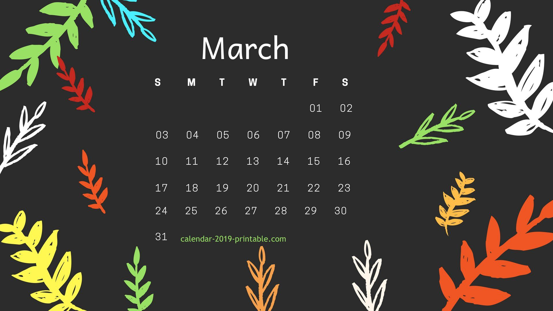 March 2019 Hd Calendar Wallpaper Desktop Wallpaper Calendar Calendar Wallpaper 2019 Calendar