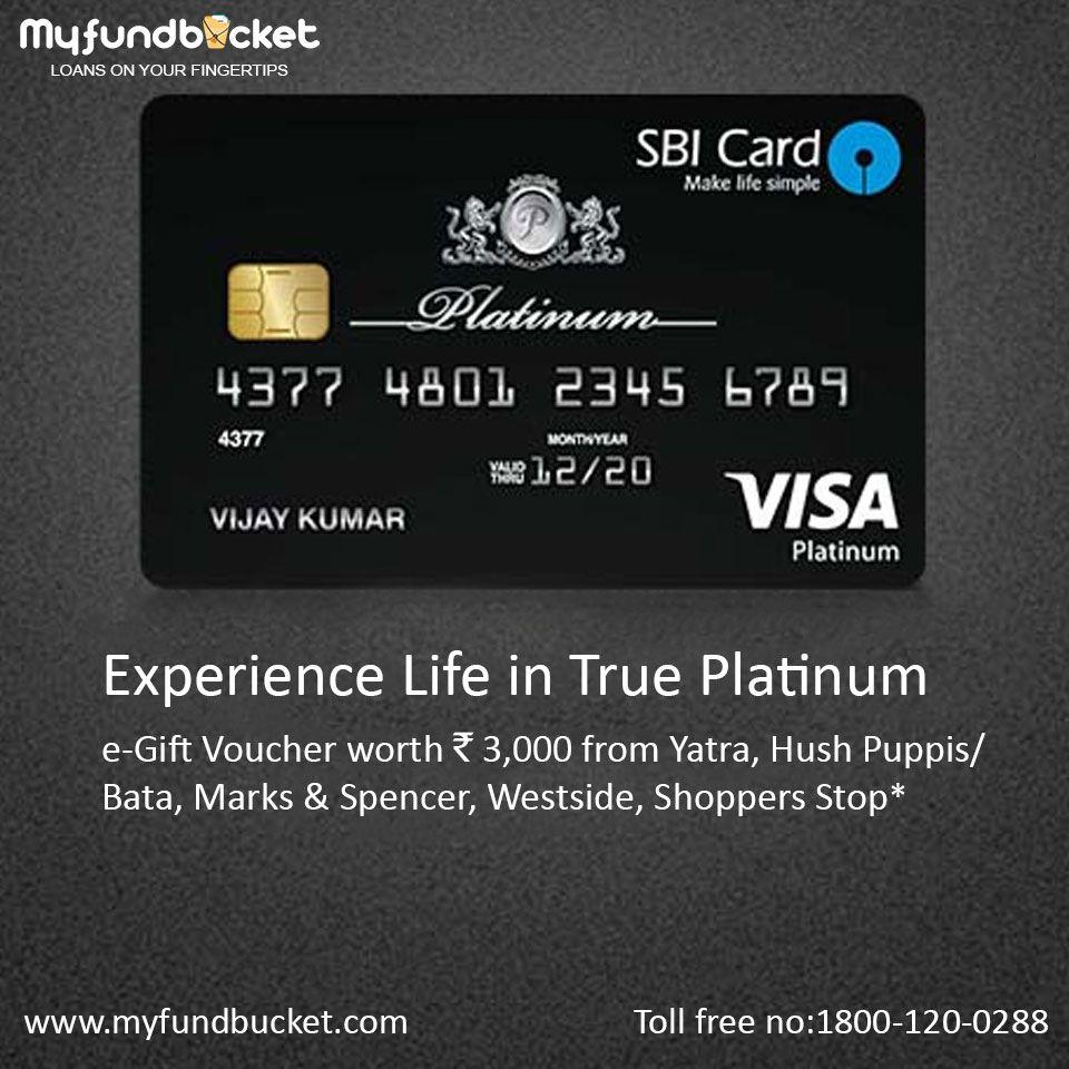 Apply sbi platinum credit card easily through myfundbucket
