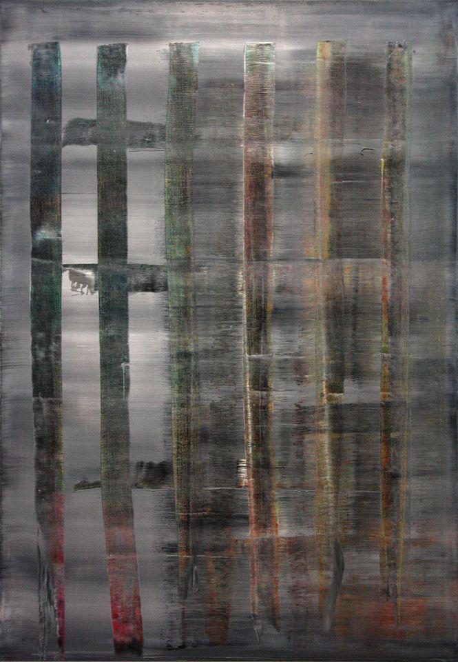 "Gerhard Richter, Abstraktes Bild (Peinture abstraite), 1992 Exposition ""Gerhard Richter, Panorama"" au Centre Pompidou, Paris, 2012."