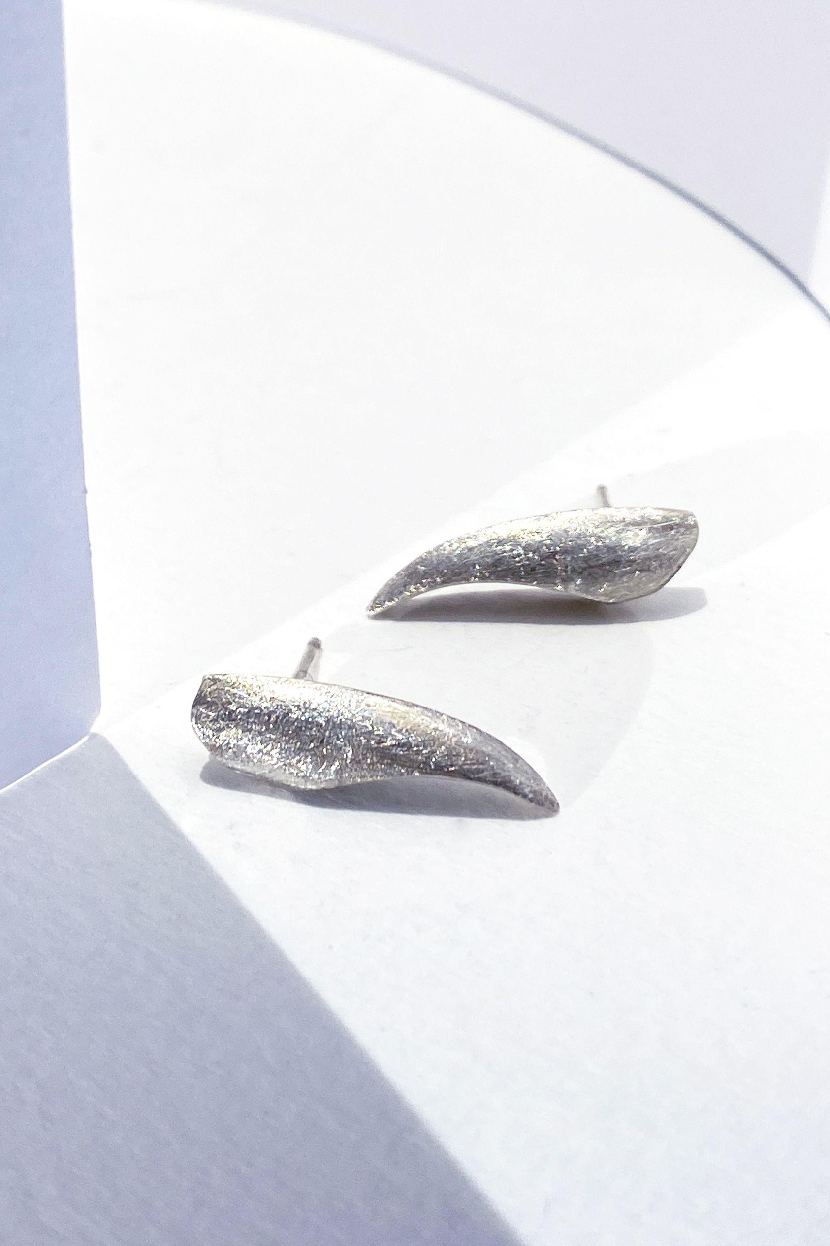Small Birds Of Paradise Stud Earrings Flower Silver Earrings For Romantic Women Floral And Artistic Jewelry In 2020 Artistic Jewelry Lovely Earrings Silver Earrings Handmade