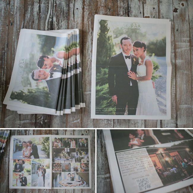 Denim Inspired Wedding Ivy Alex Wedding Newspaper Wedding Thank You Cards Wedding Inspiration