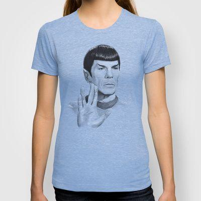 Spock Portrait Star Trek By Olechka Tshirts Llap Spock T Shirts