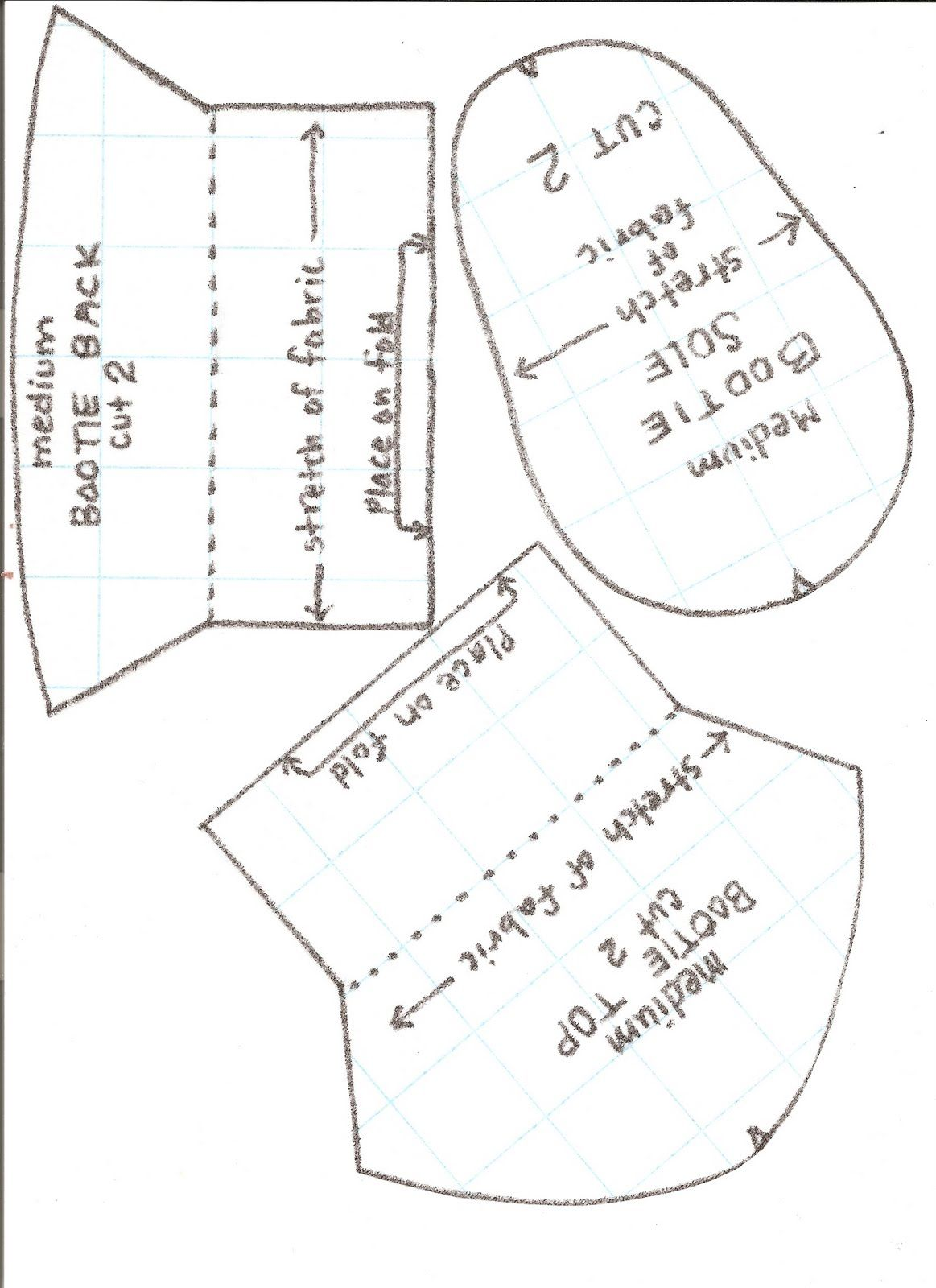Free Paper Shoe Template | ... Baby Booties with Nonskid Soles ...