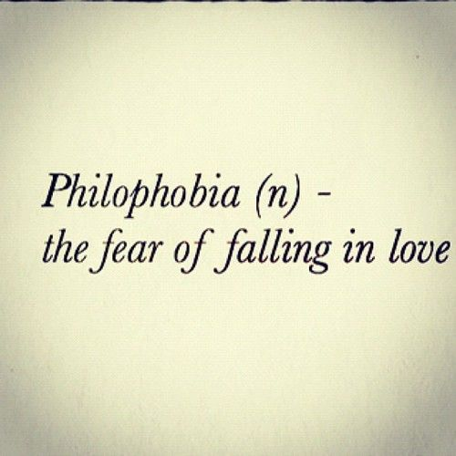The phobia of falling in love