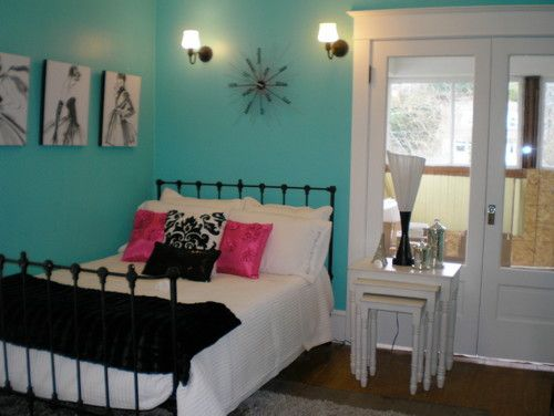 Sw 6937 tantalizing teal guest room pinterest teal for Teal paint for bedroom