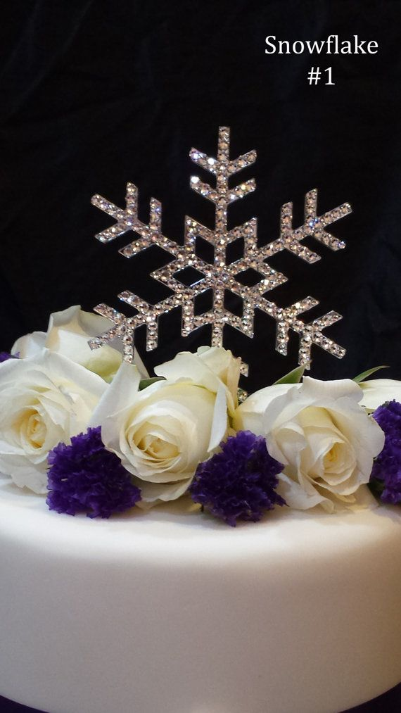 Having A Winter Themed Wedding Or Event This Cake Topper